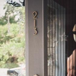 DIY numer list 0 do 9 # złoty mosiądz numer dekoracyjne litery ścienne symbole personalizuj drzwi domowe znaki adresowe 8cm