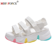 MBR FORCE Summer Women Sandals Shoes White Platform