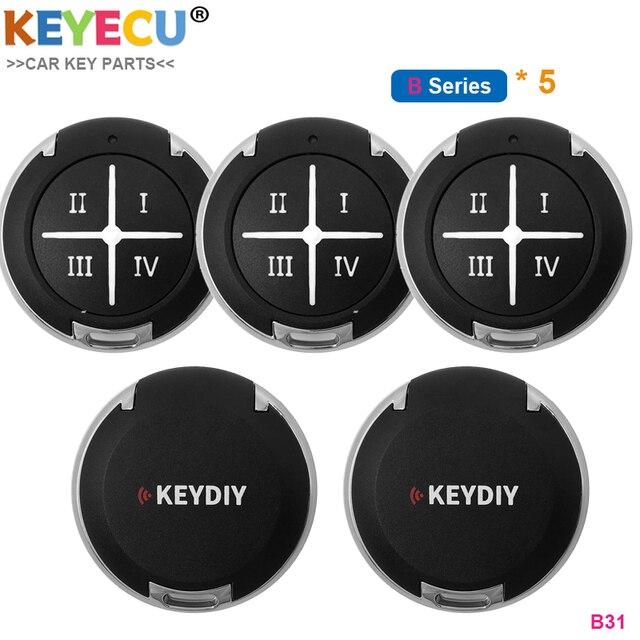 KEYECU 5 adet/grup, KEYDIY B serisi B31 KD genel garaj kapısı uzaktan araba anahtarı 4 düğmeler için KD900/ URG200/ KD X2/ Mini KD