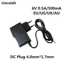 1pcs 6V 0.5A 500MA 4W AC DC Power Supply Adaptador Carregador Para OMRON I-C10 M4-I M2 M3 M5-I M7 M10 M6 M6W Monitor de Pressão Arterial