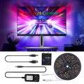 Светодиодная ленсветильник WS2812B, 5 В, 5050, RGB, цвета мечты, окружающего ТВ, ПК, экран мечты, USB, Светодиодная лента, подсветильник КА для HD телевиз...