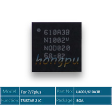 10 pçs/lote 610a3b/u4001 ic 36 pinos para iphone 7/7 plus/7 plus usb carregador/carregamento tristar 2 ic chip