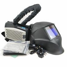 تعمل بالطاقة تنقية الهواء تنفس قناع لحام معدات الحماية الشخصية صناعة PAPR عدة السيارات سواد لحام خوذة