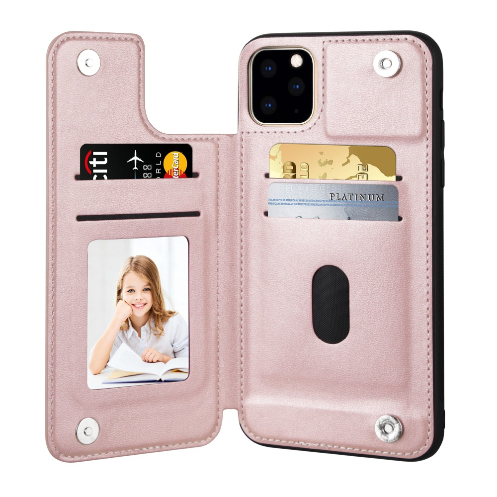 V&K PU Leather Wallet Case for iPhone 11/11 Pro/11 Pro Max 12