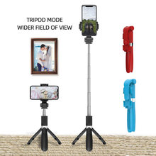 3 in 1 Wireless Bluetooth Selfie Stick for iphone/Android/Huawei Foldable Handheld Monopod Shutter Remote Extendable Mini Tripod(China)