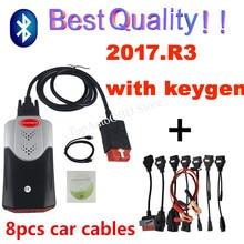 2021 Nieuwe Vd Tcs Obd Obd2 Scanner Voor Delphis Vd 2017.R3 Bluetooth Voor Auto Truck Diagnostic Tool + 8 Stuks Auto Kabels