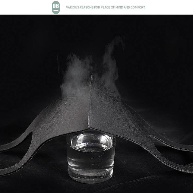 10pcs Unisex PM2.5 Mouth Mask Anti Haze Dust Mask Nose Filter Windproof Face Muffle Bacteria Flu Fabric Cloth Respirator 3