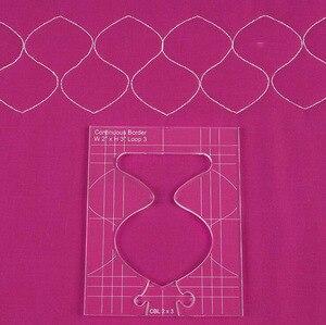 Image 4 - Neue herrscher grenze sampler vorlage set für nähen maschine können schaffen schöne grenzen 1 set = 4 stücke # RL 04W