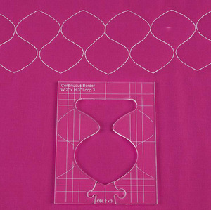 Image 4 - new ruler border sampler template set for sewing machine can create beautiful borders 1 set =4pcs #RL 04W