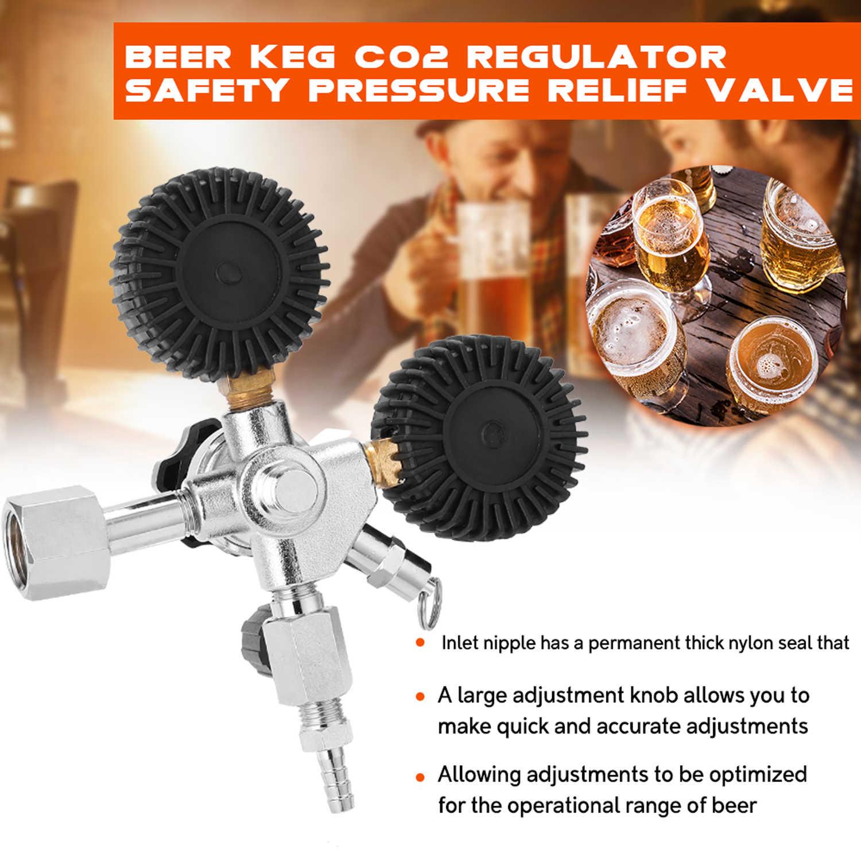 Portatile Doppio Manometro Birra CO2 Valvola Limitatrice di Pressione di Sicurezza Barile Regolatore Buck 0-3000 PSI Serbatoi Manometro