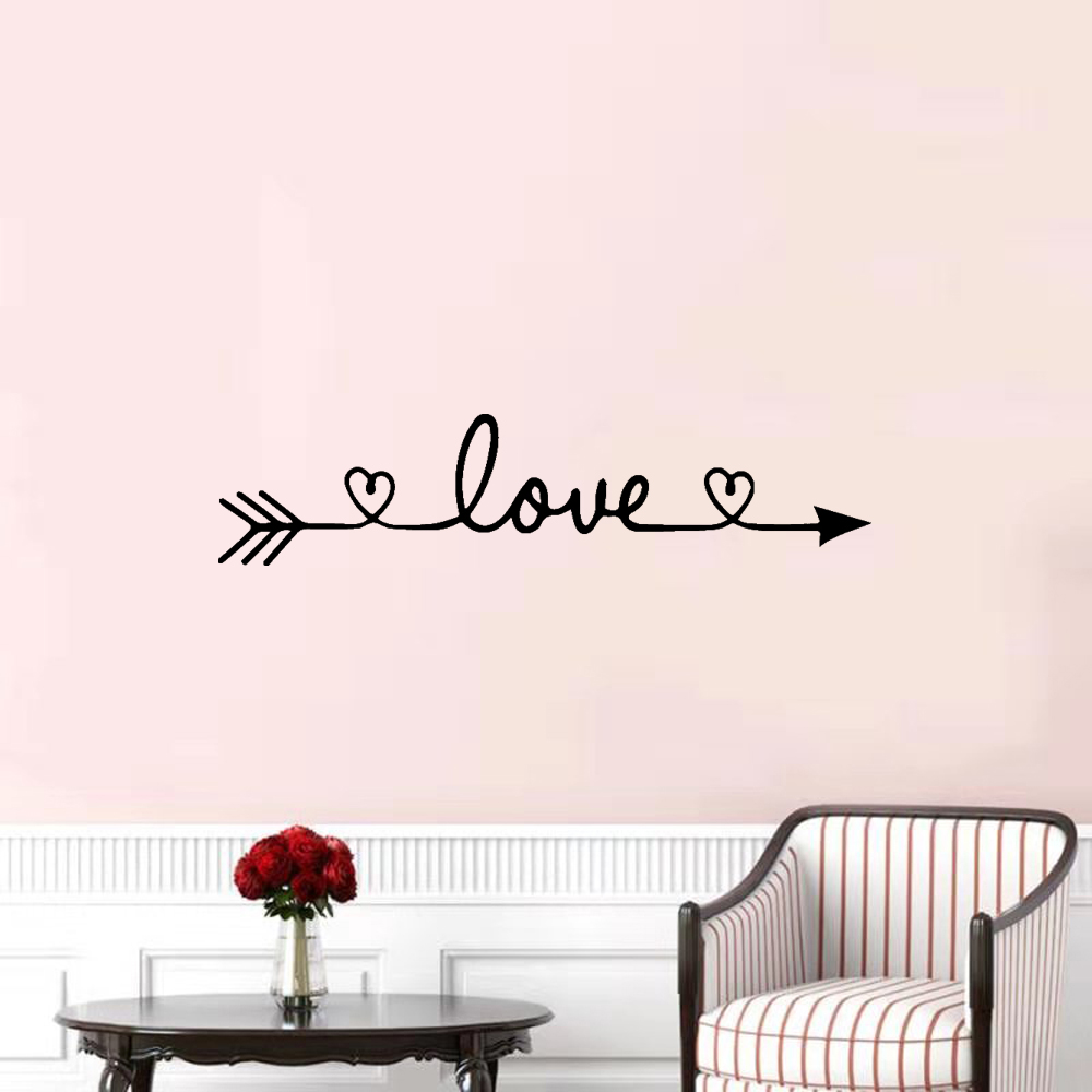 Free Shiping Love Wall Sticker Home Decoration For Bedroom Living Room Decor Wall Stickers Mural Vinyl Decorative Wallpaper
