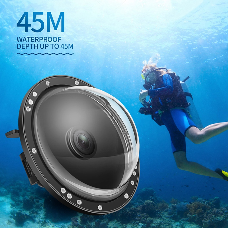 SHOOT 6 Inch Dual Handheld Dome Port Waterproof Diving Housing Case Cover With Trigger For DJI Osmo Action Camera Lens Accessori