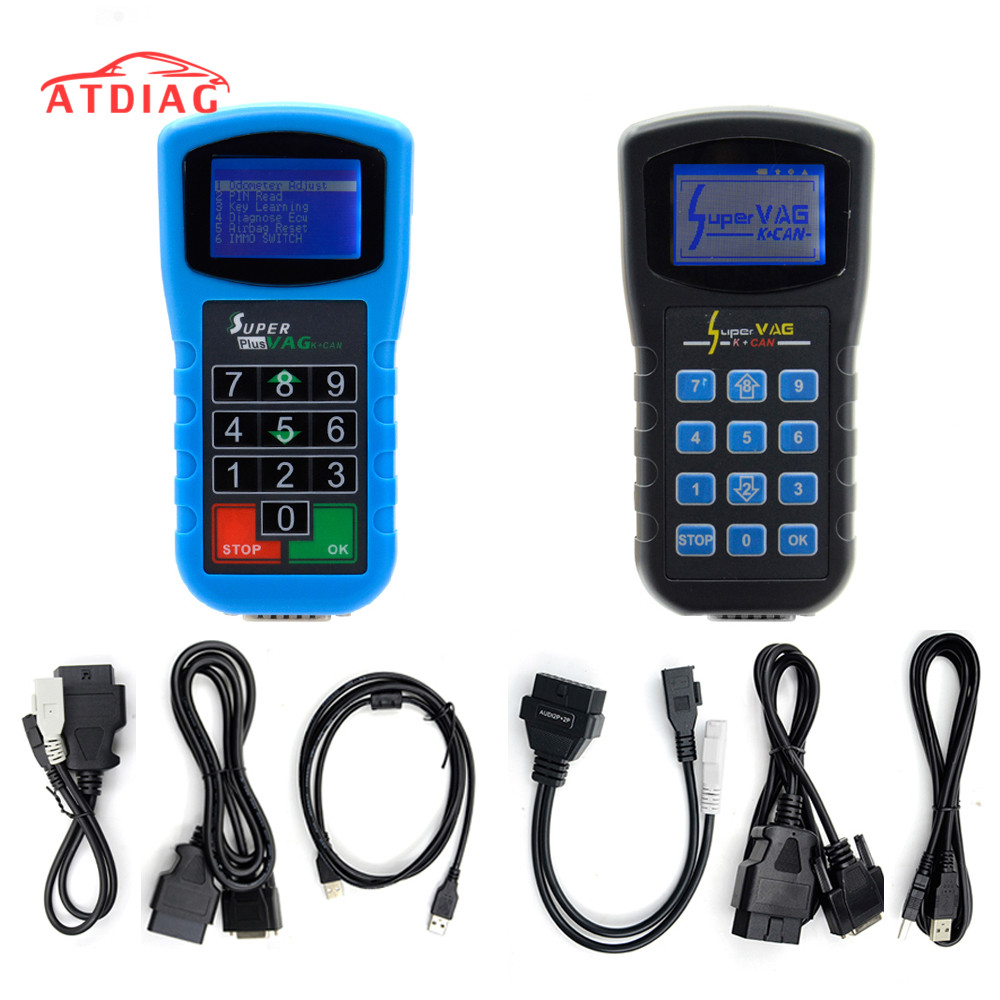 Диагностика Супер VAG K + CAN Plus 2,0 + коррекция пробега + считыватель Pin-кода SuperVAG K + CAN 4,8 лучшего качества