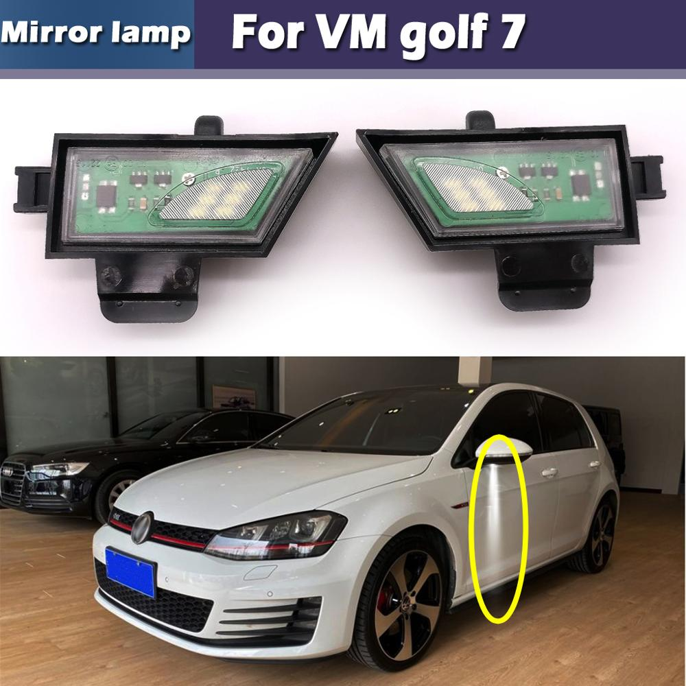 No Error Car Side Under Mirror Lamps LED Puddle Light For VW Golf 7 VII Variant Sportsvan Touran II All Track Canbus