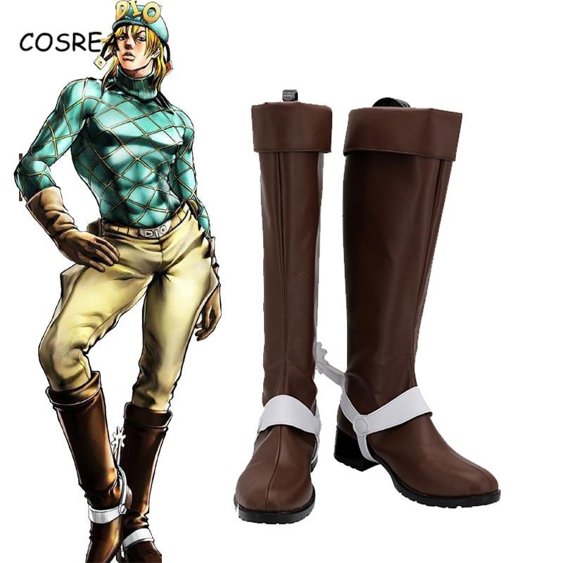 JoJo/'s Bizarre Adventure Jotaro Kujo Halloween Cosplay Shoes Boots Any Size