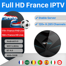 DATOO IPTV France Italy Turkey Box HK1 MINI+ Android 9.0 4G+32G BT Dual-Band WIFI French Spain