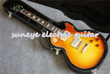 Suneye Electric Guitar In Boston Sunset Fade Finish China DIY Kit With Black Case