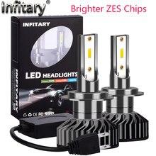Infitary Led H7 Zes 1860 Chips 16000Lm H4 Lâmpada Do Farol Do Carro 3000K 4500K 6500K HB3 HB4 H1 H3 H11 H13 9006 90W Auto Nevoeiro Lâmpada do Bulbo