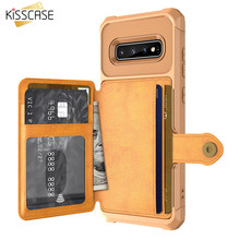 KISSCASE Leather Flip Wallet Case For Samsung S9 Cover S10 S10 Plus S9 Plus Business Cover For Samsung Note9 S10 E S10 S9 Funda(China)