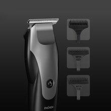 ¡Promoción! Cortadora de pelo eléctrica ENCHEN, 10W, forma degradada de alta potencia, recortadora de pelo con carga USB con 3 cepillos de pelo negro