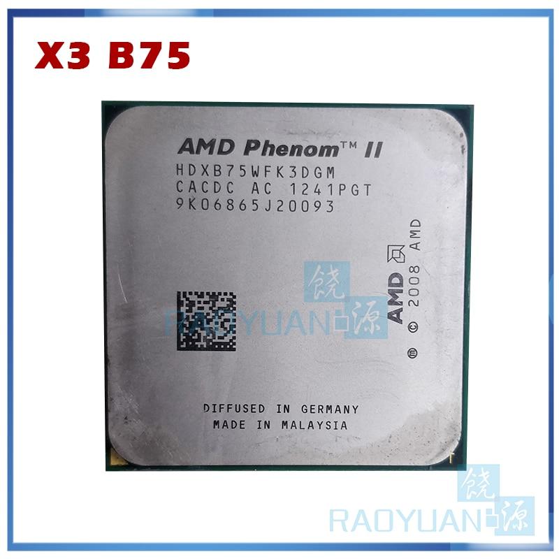 AMD PHENOM II X 3   3.0 GHZ TRIPLE CORE B75 Processor SOCKET AM3 HDXB75WFK3DGM