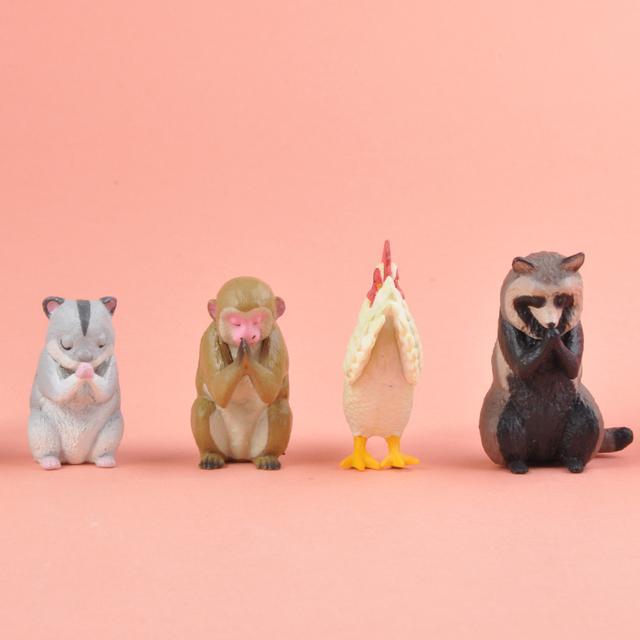 Japonia krzyk Gashapon kapsułki zabawki małpa chomik kurczak wiewiórka Model zwierzęcia ozdoby stołowe zapięcie ręce zwierząt serii 6 tanie i dobre opinie Bandai Adult 7-12y 12 + y 18 + JP (pochodzenie) Unisex Away fire Small szie PIERWSZA EDYCJA Wyroby gotowe Gashapon Capsule Toy
