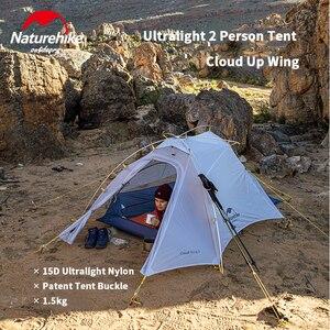 Image 4 - Naturehike 新到着クラウドアップ Cuben 繊維 2 人のキャンプのテント超軽量 15D ProfssIonal アジア屋外金賞テント NH