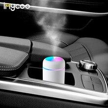 Imycoo 300ml usb ultra-sônico umidificador névoa fria fabricante dazzle copo aroma difusor umidificador de ar com luz da lâmpada para casa do carro