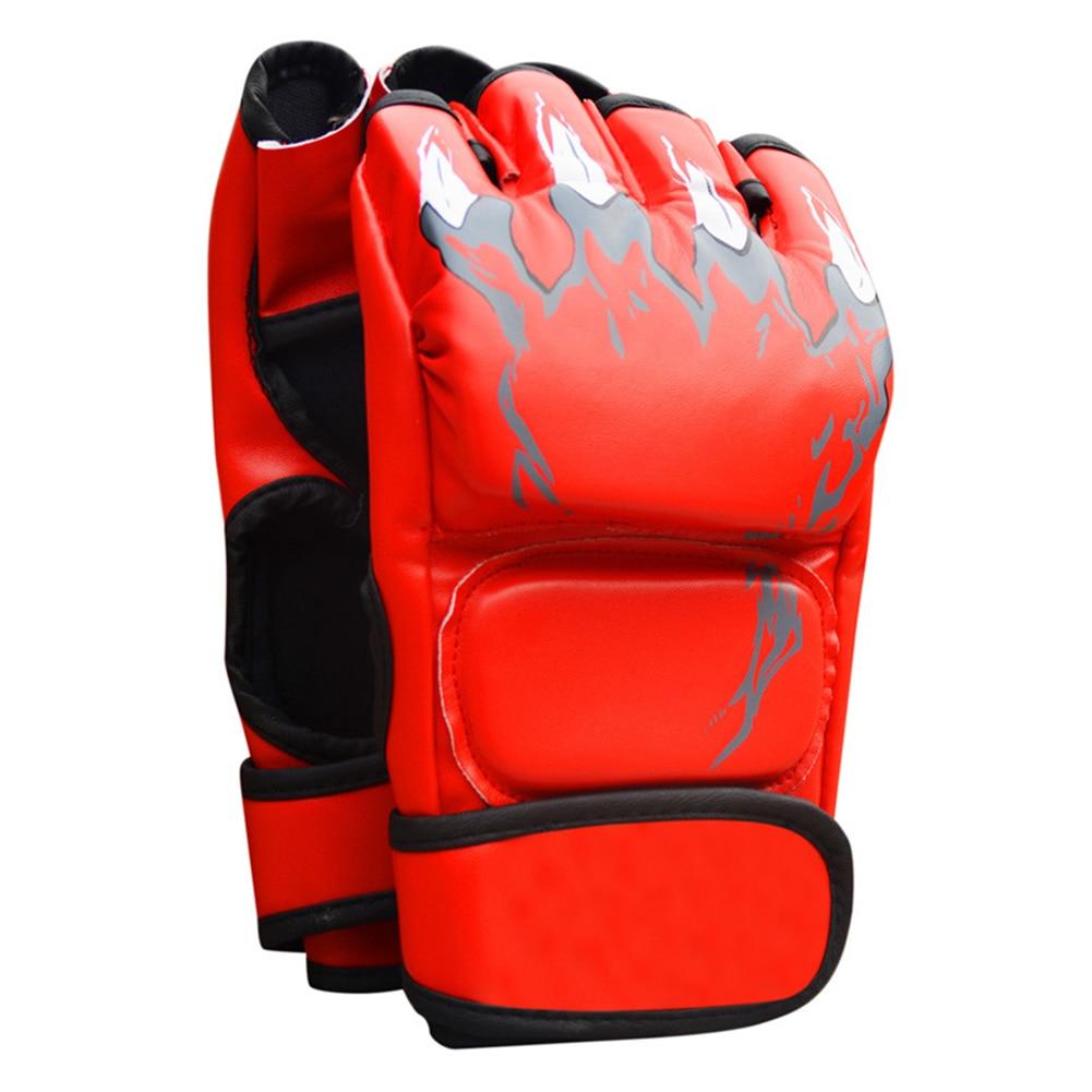 Women Men Thickened Boxing Gloves Half Finger MMA Sanda Punching Professional Combat Muay Thai Kick Boxing Gloves