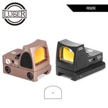 LUGER RMR kolimator Red Dot polowanie zakres optyczny Micro Reflex Sight Glock luneta fit 20mm szyna tkacka Airsoft Gun Rifle Scope