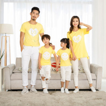 Family Matching Outfits Mommy and Me Clothes Clothing New 2019 Fashion short sleeve mother father baby cotton family look