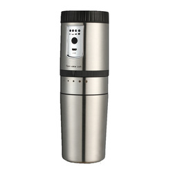 Electric Portable Coffee Machine Stainless Steel Coffee Bean Grinder Car Coffee Maker Filter Coffee Machine Travel Coffee Maker