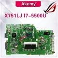 Akem X751LB GT920M/2GB mainboard Für ASUS X751L R752L K751L X751LN X751LD X751LJ X751LB DDR3 Laptop motherboard 4GB RAM I7-5500U