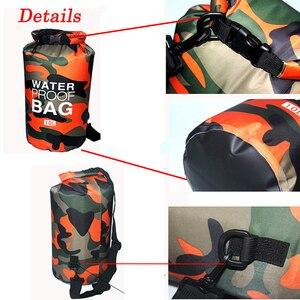 Image 5 - Sac sec de Camouflage en PVC, pour activités dextérieur, pour plongée, Rafting, Trekking et Trekking en rivière, pliable et étanche