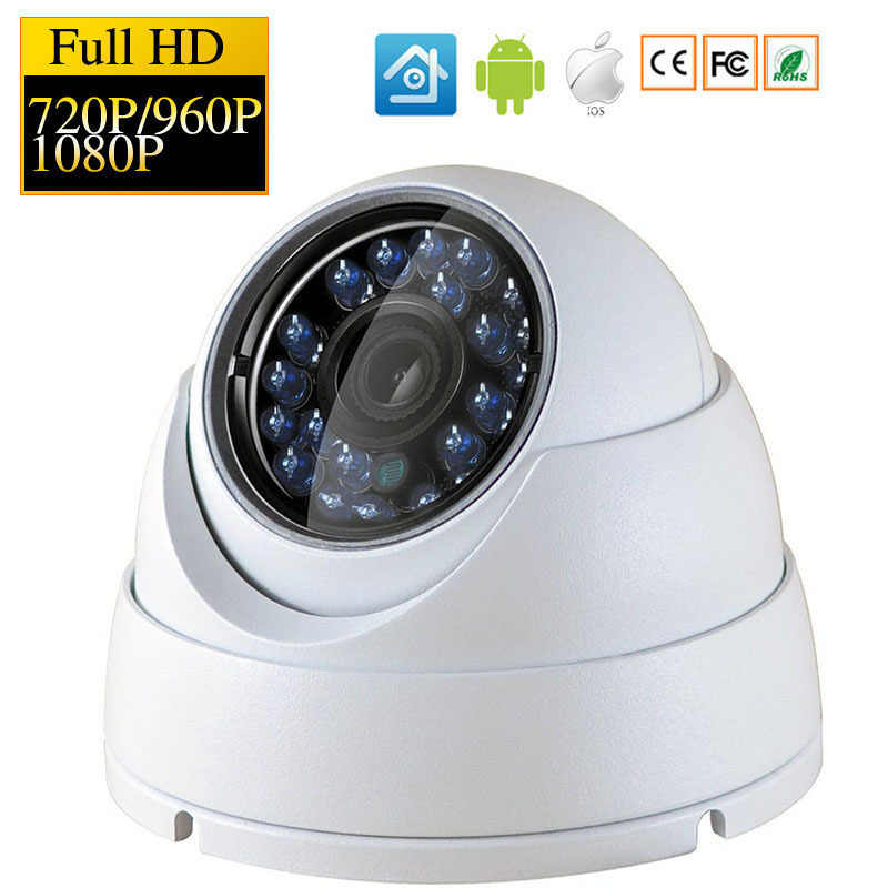 IP Dome Waterproof Camera 720P 1080P H.264+/H.265 HD Network Outdoor Indoor IRC 24 LEDs Infrared NightVision ONVIF P2P CMS XMEYE