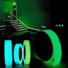 5m x 15mm lśniąca taśma samoprzylepna zielona niebieska świecąca w ciemności bezpieczeństwo naklejka dekoracyjna taśma do dekoracji bezpieczeństwo strona główna tanie tanio CLAITE ROHS Taśmy Green Blue Light Blue 1 5cm More than 5 hours Decoration Luminous Tape