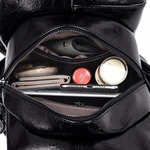 Image 5 - 2019 kobiet skórzane plecaki wysokiej jakości Sac A Dos Anti theft plecak dla dziewczynek Preppy torby szkolne dla dziewczynek Casual Daypack