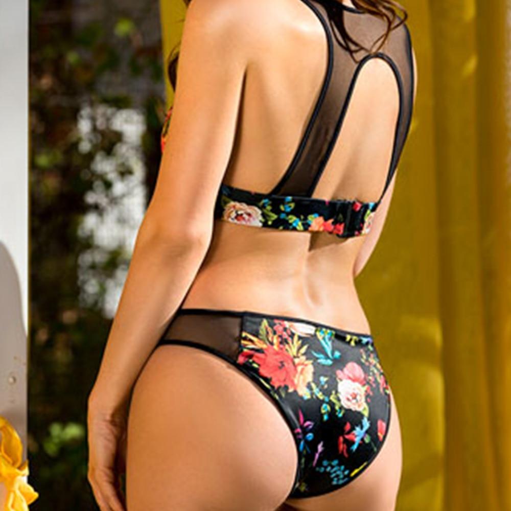 OMKAGI Brand Sexy Bikini 2020 Swimsuit Push Up Bikinis Set Swimwear Women Female Swimming Suit Bathing Suit Beachwear 3