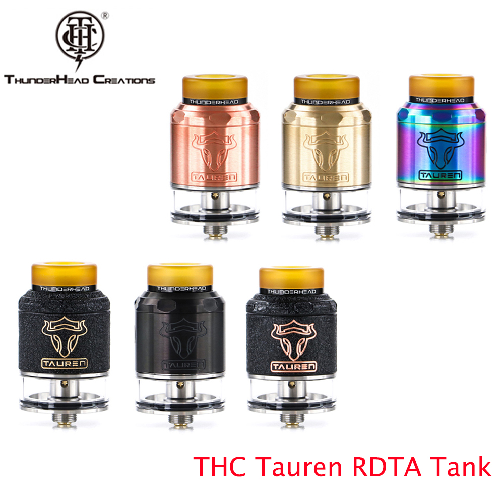 THC Tauren RDTA Tank Double 28 Micro Air Holes Atomizer Vape Leak Proof Rebuildable THC Atomizer Fit For E Cigarette Box Mod