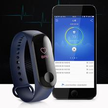 цена на NEW M3 Color Screen Smart Bracelet Fitness Tracker Heart Rate Blood Pressure Monitor Waterproof Sports Wristband for Android iOS