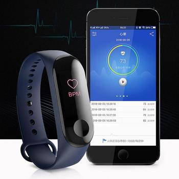 NEW M3 Color Screen Smart Bracelet Fitness Tracker Heart Rate Blood Pressure Monitor Waterproof Sports Wristband for Android iOS smart fitness bracelet men color screen ip68 waterproof blood pressure heart rate monitor wristband for android ios pk id107