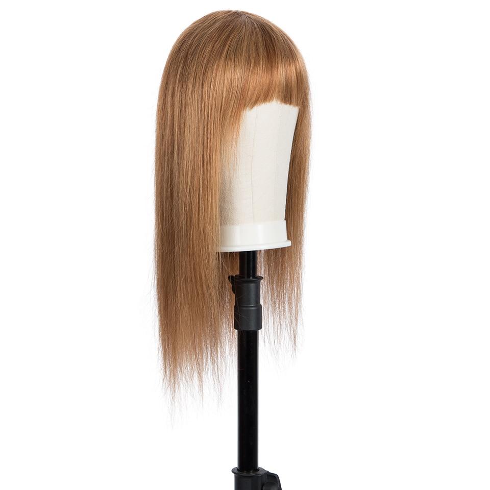 Remy Forte Human Hair Wigs 100% Remy Brazilian Hair Wigs For Women Short Bob Wigs With Bangs 30 Inch Brown Black Woman Wigs