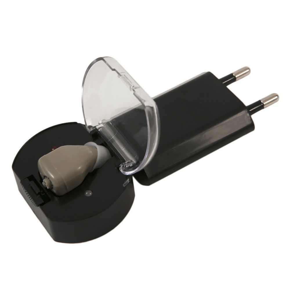 JZ-1088H2 Audiphone Şarj Edilebilir Işitme cihazları ses amplifikatörü Için Görünmez Yaşlı Sağır Taşınabilir Hafif işitme cihazı