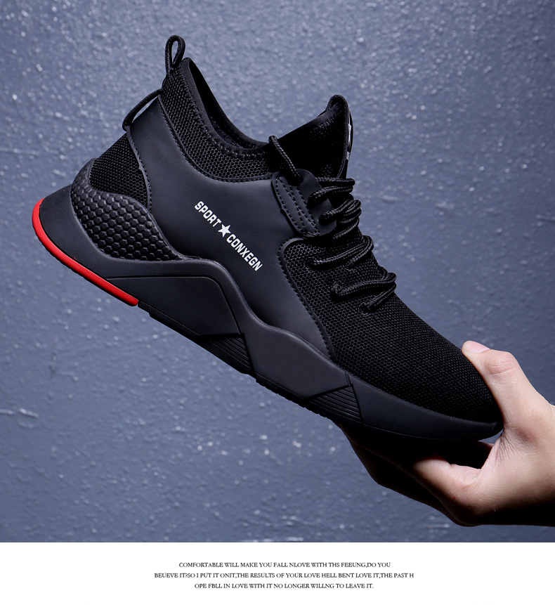 2019 Spring Mesh Shoe Sneakers For Men Shoes Breathable Men's Casual Shoes Lace Up Color Matching Male Shoes Loafers 39-44