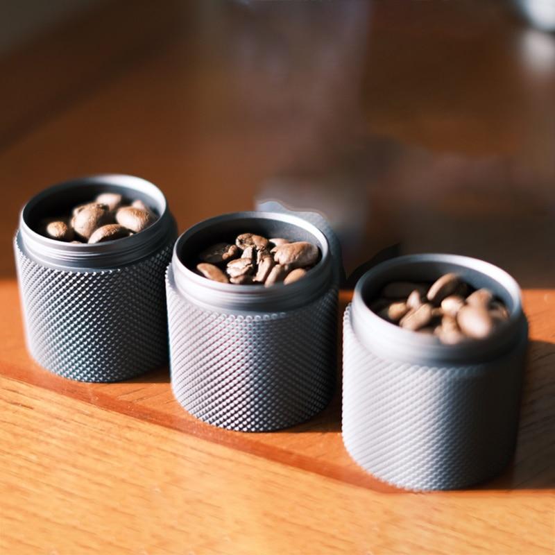 timemore Metal Bean Jar Set of 3 coffee jar Portable mini metal bean jars  Aluminum sealed tank coffee can 3 jars in a box   - title=