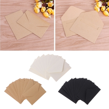 50pcs/lot Craft Paper Envelopes Vintage European Style Envelope For Card Scrapbooking Gift 1