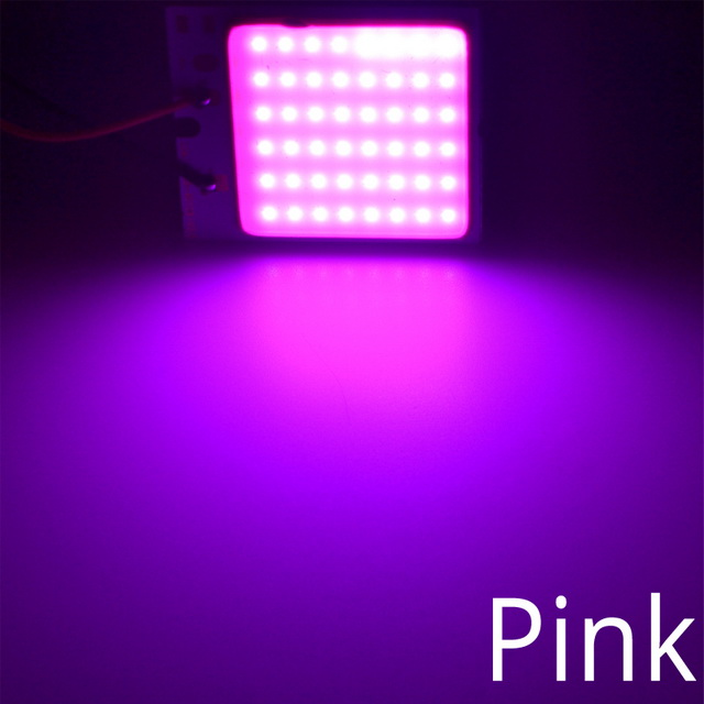 Белый, красный, синий T10 W5w Cob 24SMD 36SMD Автомобильный светодиодный панельный светильник для автомобиля, лампа для чтения в салоне автомобиля, купольная гирлянда BA9S DC 12v - Испускаемый цвет: Розовый