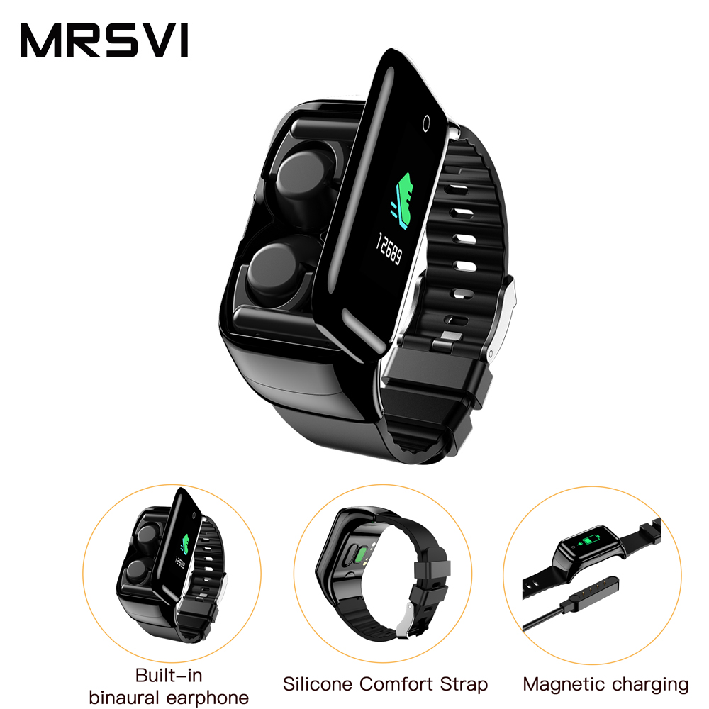 2 in 1 Sport Smart Band M7 Smart Watch men with TWS Earphone Heart Rate Monitor Fitness TrackerWristband for Android IOS PK m1M3