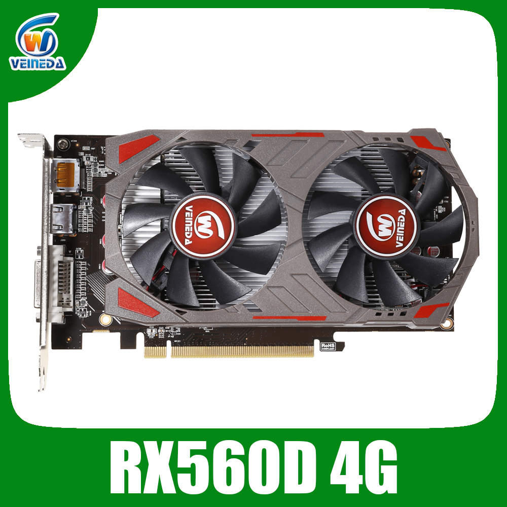 VEINIDA Graphics Cards Radeon RX560D 4GB GDDR5 128bit PCI Express 3.0 DirectX12 video Card for Amd Rx560 Chip Image Card Game image