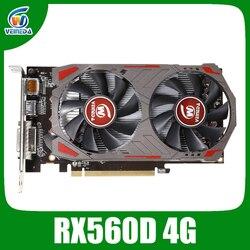 Veinida 그래픽 카드 radeon rx560d amd rx560 칩 이미지 카드 게임용 4 gb gddr5 128bit pci express 3.0 directx12 비디오 카드